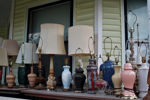 Lamps for Sale - Copyright Dawn M. Miller