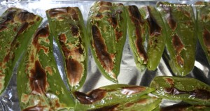Chiles after broiling