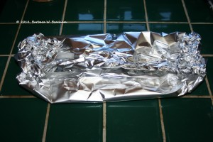 Wrap up the chiles in the aluminum foil