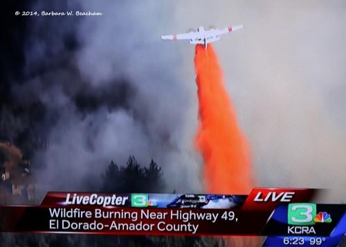 Plane dropping retardant