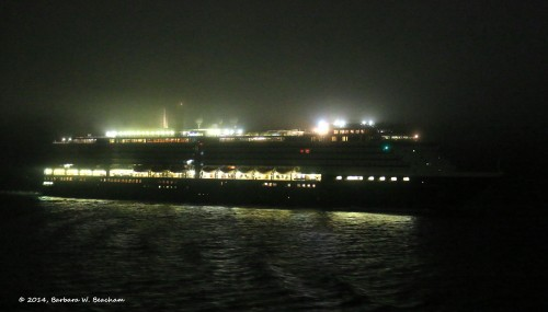 A ship in the night