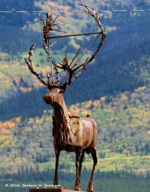 Caribou in metal