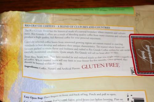 Gluten free coffee