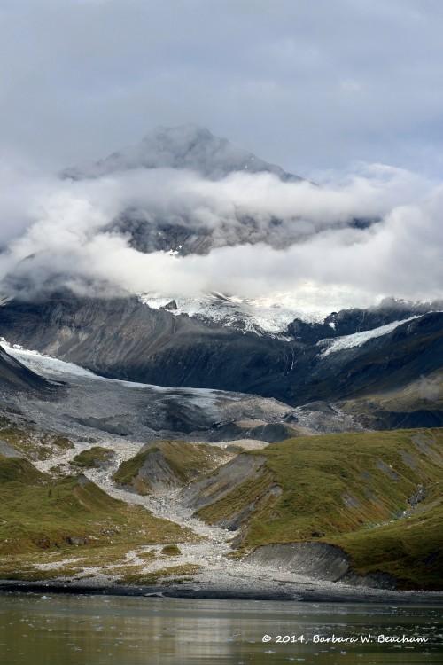 Fingers across a glacier
