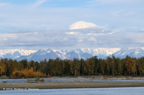 Susitna River and Mt McKinley
