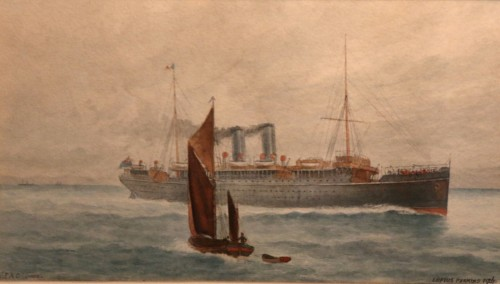 Painting of a cruise ship