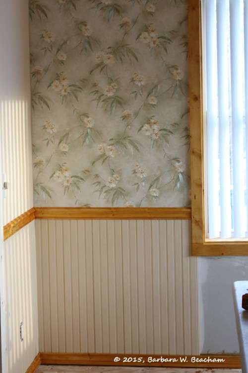 Wainscoting along the bottom