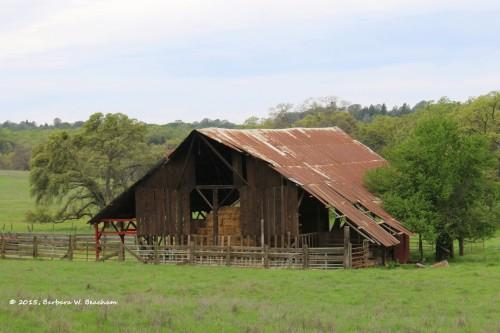 A hay barn