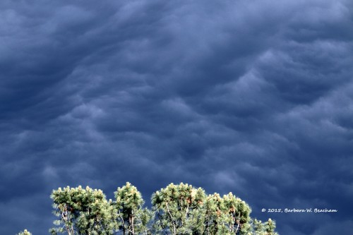 Roiling clouds