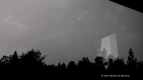 The bolt of lightning begins