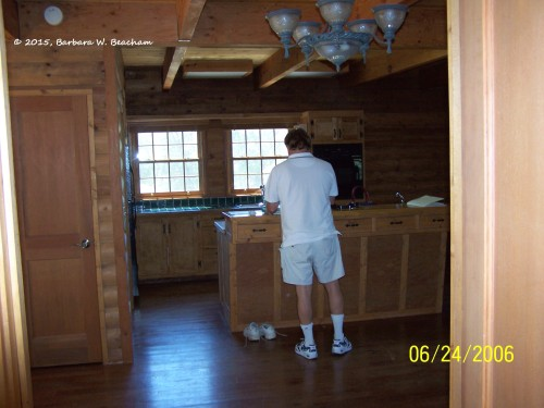 Looking into the old kitchen