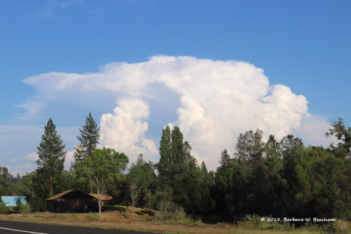 Thunderheads off in the distance