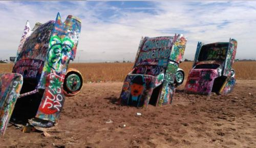 Cadillac Ranch - Photo by Jean L. Hays