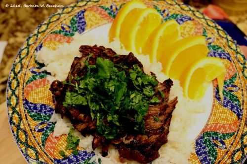 Serve the short ribs over rice